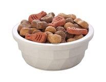 Bol d'aliments pour chiens (avec le chemin de découpage) Photos stock