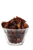 Bol d'isolement de raisins secs image stock