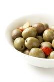 Bol d'olives Photos stock