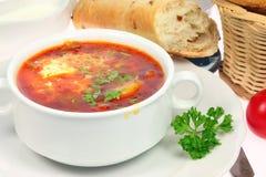 Bol de borscht. photo libre de droits