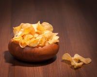Bol de chips Photos stock