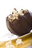 Bol de chocolat de maïs éclaté Images stock
