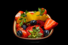 Bol de fruit photographie stock
