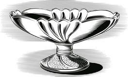 Bol de fruit de céramique fine, illustration stock