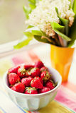 Bol de la fraise Photos libres de droits