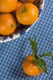 Bol de mandarines Image libre de droits