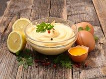 Bol de mayonnaise photo libre de droits