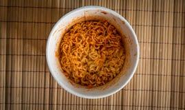 Bol de nouilles de ramen chinoises Images stock