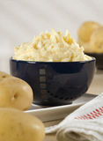 Bol de purée de pommes de terre Photo stock