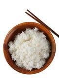 Bol de riz d'isolement Photographie stock libre de droits