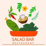 Bol de salade Photo stock