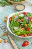 Bol de salade de légumes frais de mélange Photos libres de droits