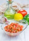 Bol de Salsa fait maison frais images libres de droits