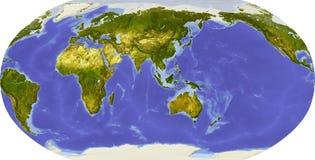 Bol, in de schaduw gestelde hulp, die op Azië wordt gericht Stock Afbeelding