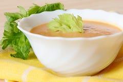 Bol de soupe à céleri images stock