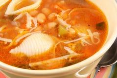 Bol de soupe à minestrone Images libres de droits