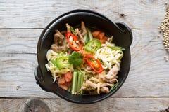 Bol de soupe coréen Photos stock