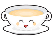 Bol de soupe heureux Photo libre de droits