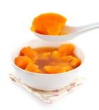 Bol de soupe à patate douce. Image libre de droits