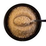 Bol de sucre avec la cuillère Images stock