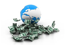 Bol en geld Royalty-vrije Illustratie
