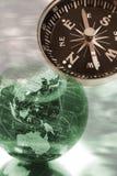 Bol en Kompas Stock Afbeelding