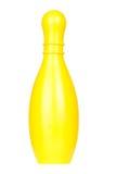Bol en plastique jaune images stock