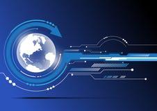 Bol en technologieachtergrond Stock Afbeelding