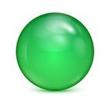 Bol en verre vert Image stock