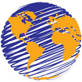 Bol - Gestileerde aarde Royalty-vrije Stock Foto