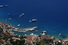 Bol harbour aerial view Royalty Free Stock Images