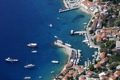 Bol harbour from air Royalty Free Stock Photo