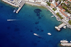 Bol harbour from air Royalty Free Stock Photography