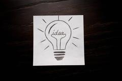 Bol het denken aan creatief bedrijfsidee Stock Fotografie