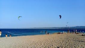 Bol, isola di Brac, Croazia, Dalmazia Capo dorato del ratto di Zlatni della spiaggia immagine stock libera da diritti