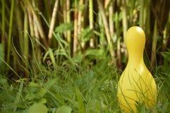 Bol jaune sur l'herbe image libre de droits