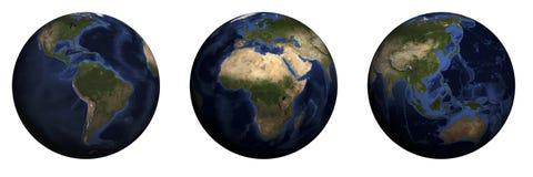 Bol met continenten Royalty-vrije Stock Afbeelding