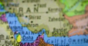 Bol met de kaart van het land van Oman stock video