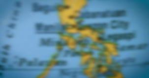 Bol met de kaart van het land van Taiwan stock video