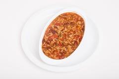 Bol ovale de haricots rouges et de riz image libre de droits