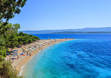 Bol plaża, Chorwacja Obraz Royalty Free