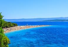 Bol plaża, Chorwacja Obrazy Royalty Free