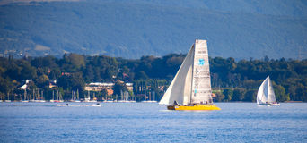 bol sailboat regatta λιμνών δ Γενεύη rolex Στοκ Εικόνα