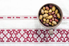 Bol savoureux d'olives Images stock