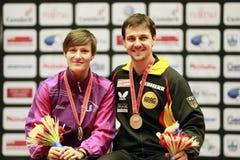 Bol Timo (GER) en Viktoria Pavlovitch (BLR) Royalty-vrije Stock Afbeeldingen