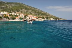 Bol town on island Brac, Croatia Royalty Free Stock Photos