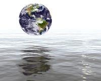 Aarde door vloed wordt bedreigd die stock illustratie