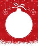 Bola 1 de la Navidad Imágenes de archivo libres de regalías