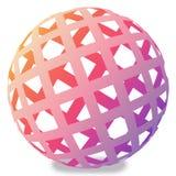 bola 3D Ilustração do Vetor