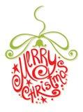 Bola abstracta de la Navidad Imágenes de archivo libres de regalías